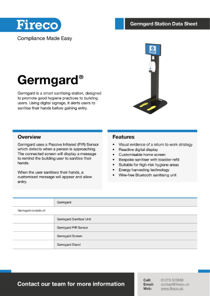 Germgard Station Technical Data Sheet