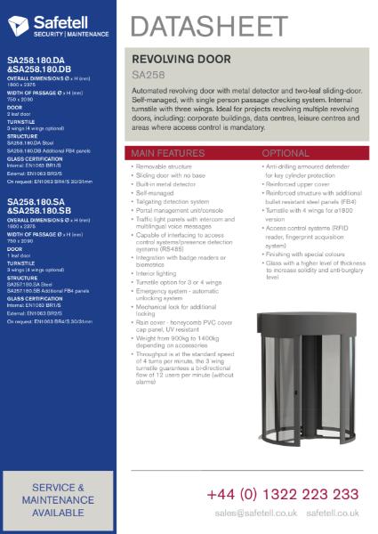SA258 Security Revolving Door