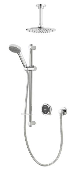 Quartz Touch Smart Divert Concealed Shower with Adjustable and Fixed Ceiling Heads
