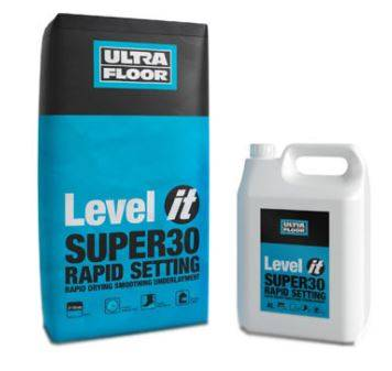 Level IT Super30: Rapid Setting, Rapid Drying Smoothing Underlayment