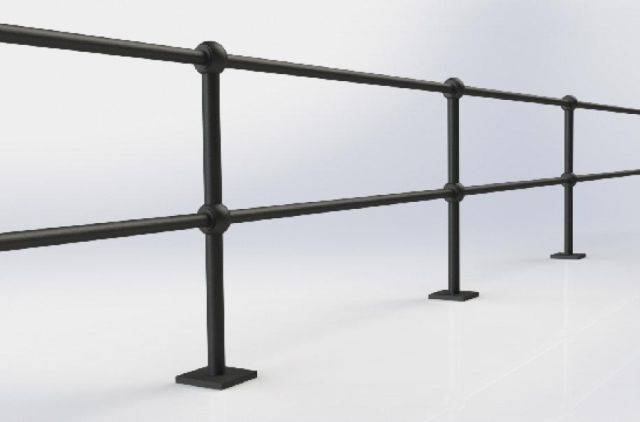 ASF Buckden 2 Rail Cast Iron Post and Rail System