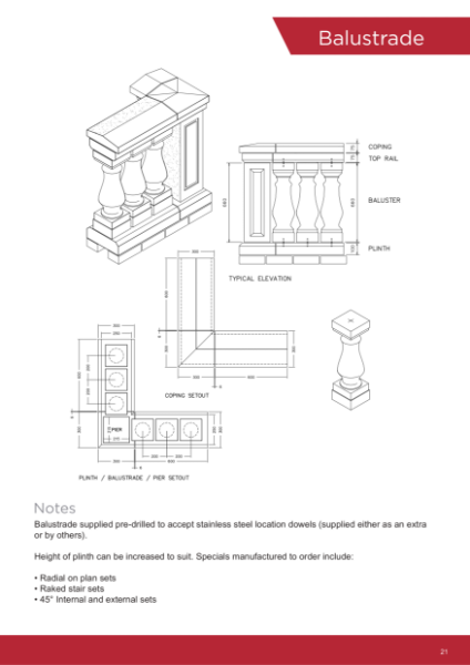 Drawings - Balustrades