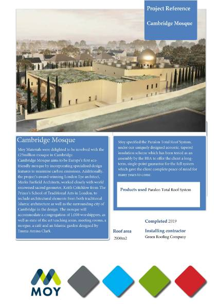 Cambridge Mosque MOY Bitumen case study