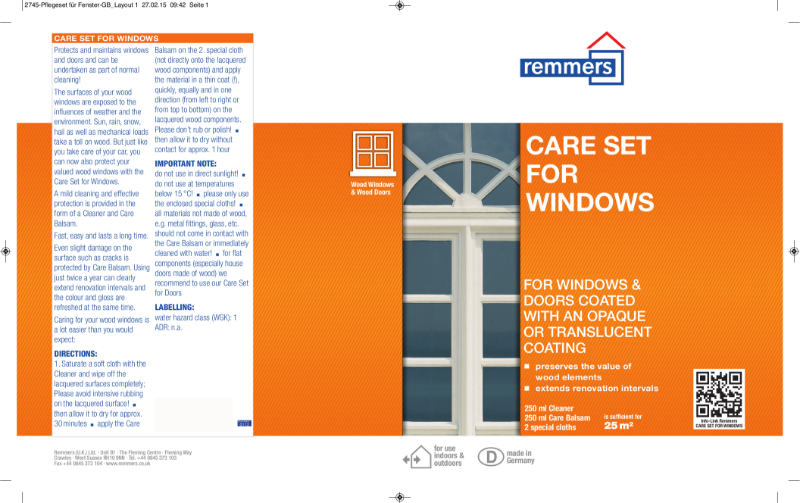 Remmers Care Set for Windows