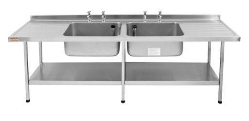 Catering Sink -Midi Double Bowl (Double Drainer)