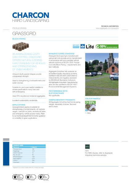 Charcon Grassgrid block paving