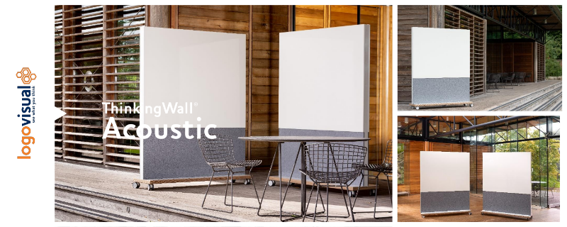 ThinkingWall Mobile Acoustic Freestander Whiteboard Flyer