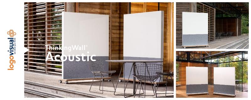 ThinkingWall Mobile Acoustic Freestander Whiteboard Flyer