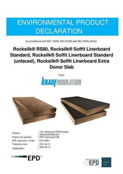 Knauf Insulation Rocksilk Soffit EPD S-P-04004