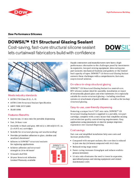 DOWSIL 121 Structural Glazing Sealant