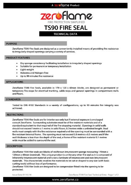 Zeroflame TS90 Fire Seal