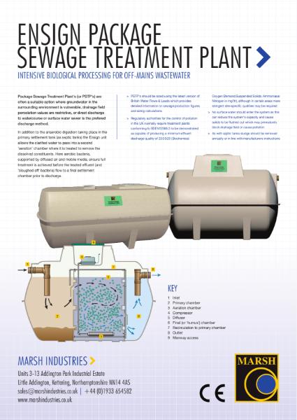 Marsh ENsign Domestic Sewage Treatment Plants