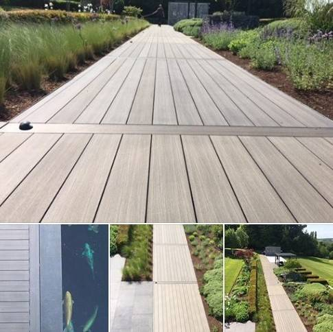 iDecking walkway in high profile modern style home
