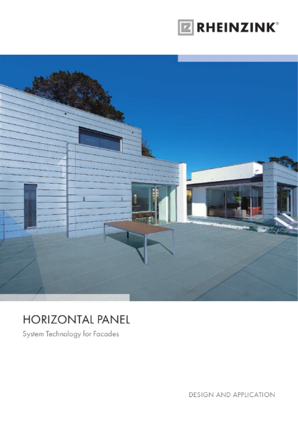 Rheinzink Horizontal Panel System technology for façades, our zinc panel system in a horizontal format.