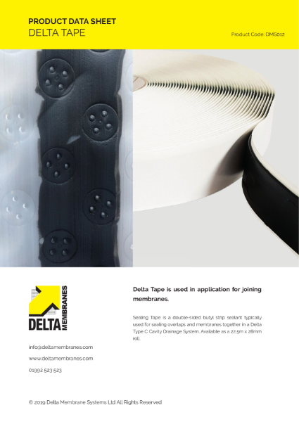 Delta Tape Product Data Sheet