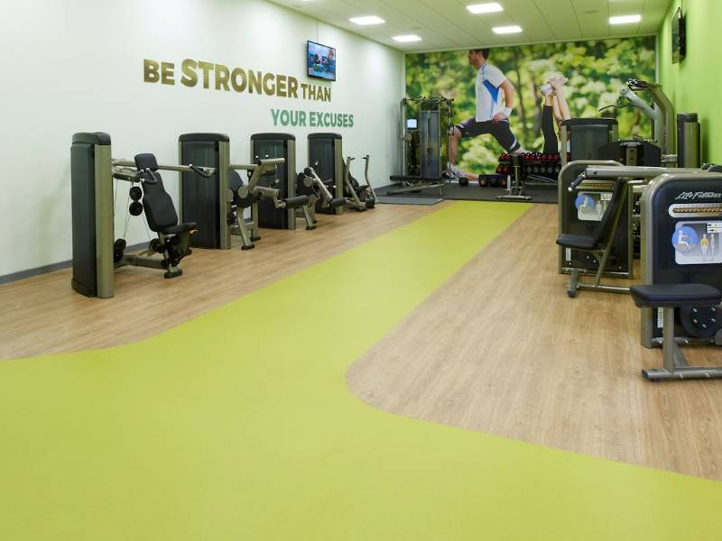 Polyflor's Expona flooring flows through new gym