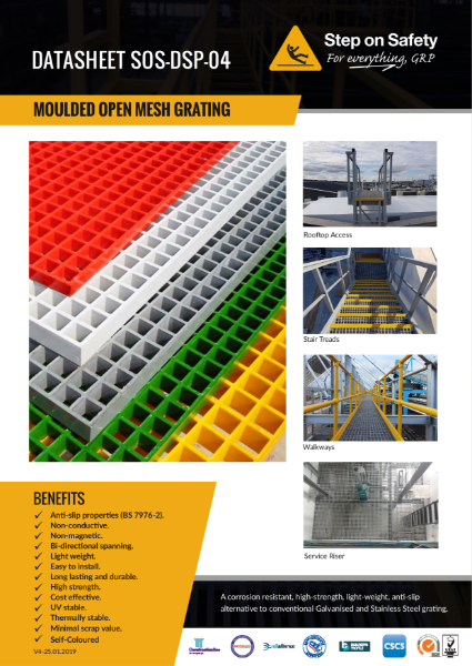 Open Mesh Grating Technical Data Sheet
