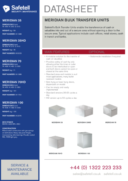 Meridian Bulk Transfer Units