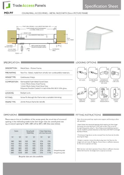 Metal Door Access Panels