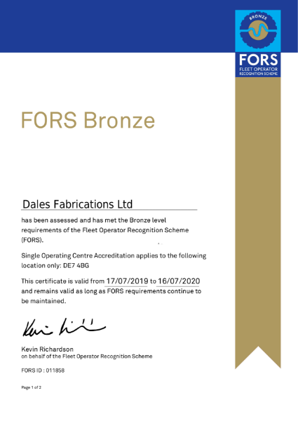 FORS Certificate