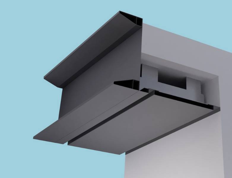 Extruded Sigma Eaves Systems: Fascia Soffit & optional Hidden Gutter