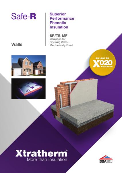Insulation for Drylining Walls Mechanically Fixed (SR/TB-MF)