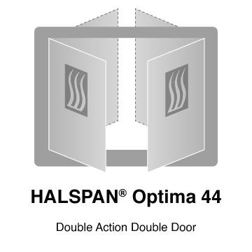HALSPAN® Optima 44 mm Internal Fire Rated Door Blank - Double Acting Double Doors
