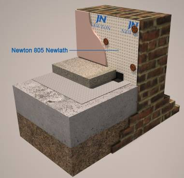 Newton 805 Newlath M10 - Damp-proof membrane