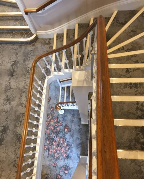 Brass Stair Nosings in Studley Castle Hotel