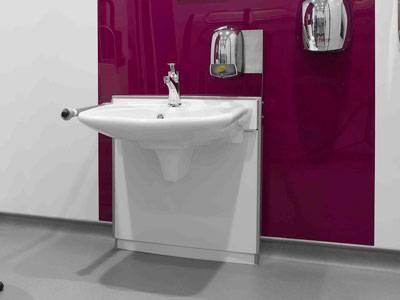 Height Adjustable Wash Hand Basin CP WBB1-6