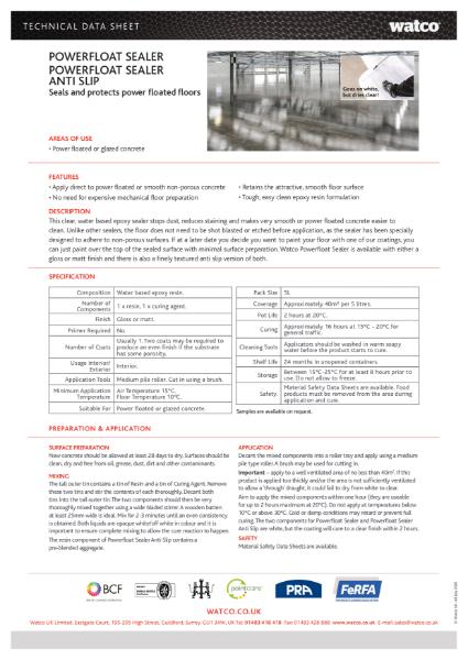 Data Sheet: Powerfloat Sealer