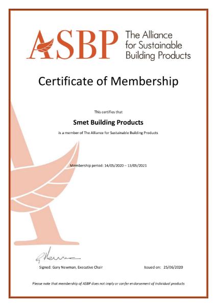 ASBP Membership Certificate