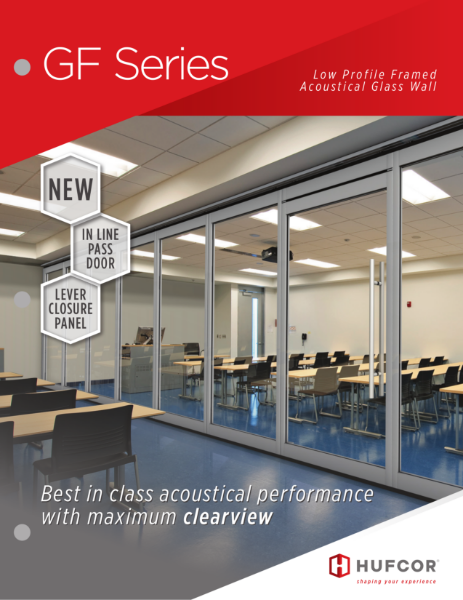 HUFCOR GF Series - Acoustical Lowframe Glasswall