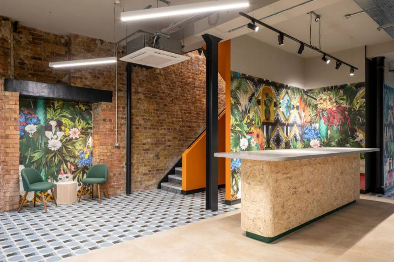 CAT B Fitout for a Serviced Office Space. The Connolly Works, 41-43 Chalton Street, London.
