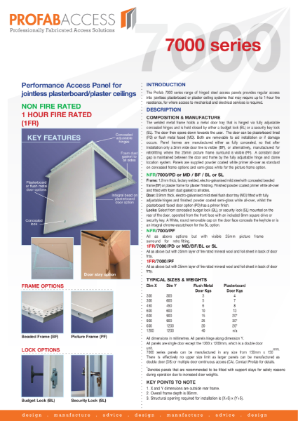 Profab ECHO 7000 Series Acoustic Ceiling Access Panel