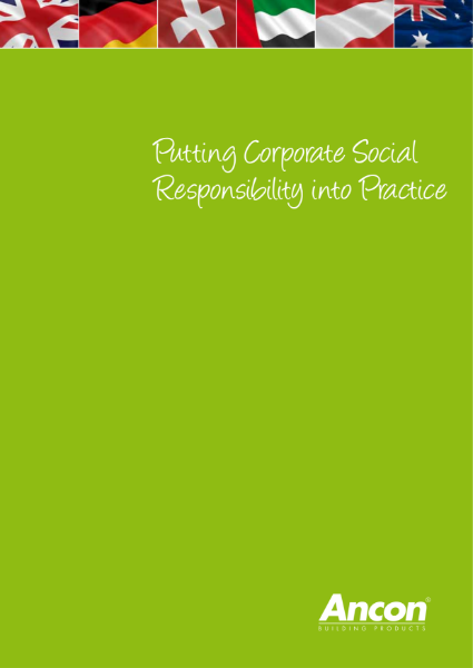 Putting Corporate Social Responsibility into Practice