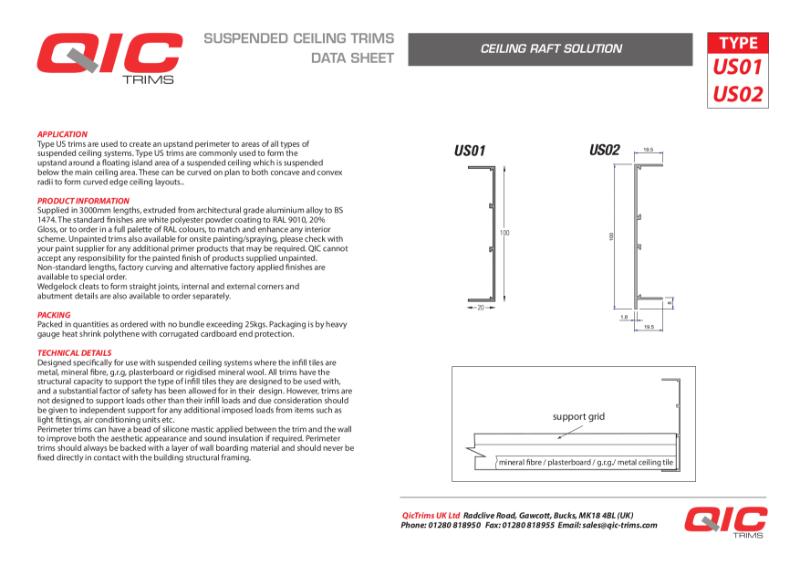 QIC Ceiling Raft Solutions