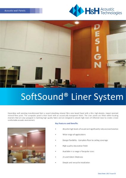Acoustic Softsound Liner system