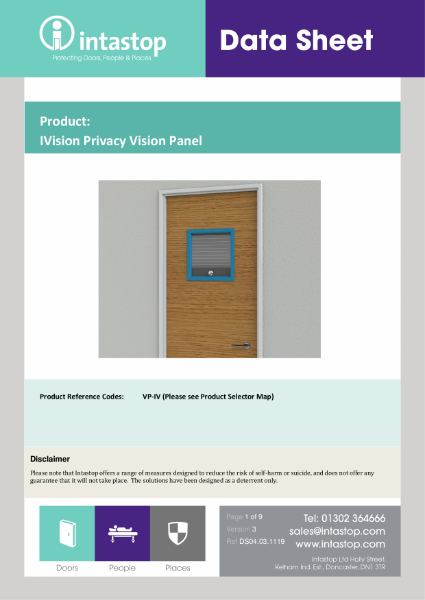 IVision Privacy Vision Panel Data Sheet