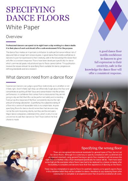 Specifying Dance Floors - White Paper Summary