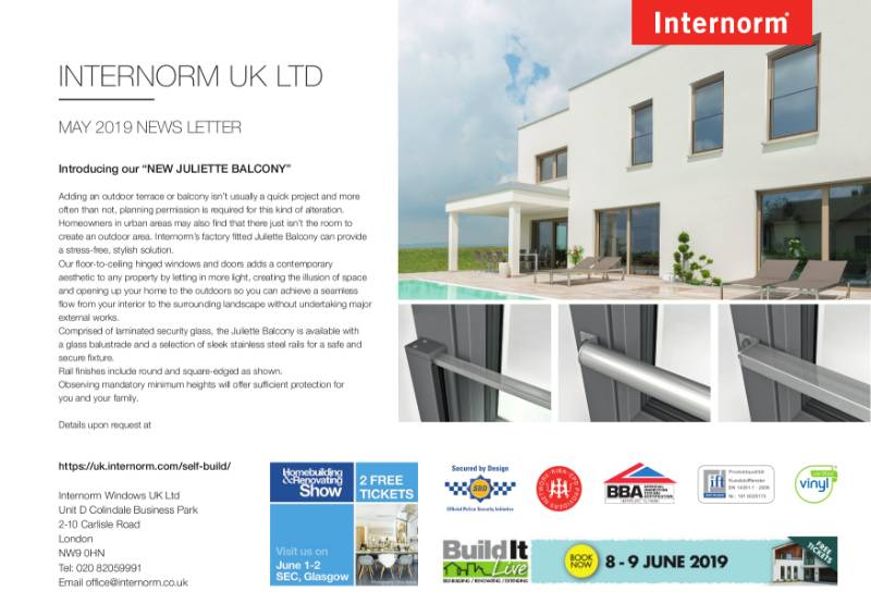 Internorm Newsletter May 2019