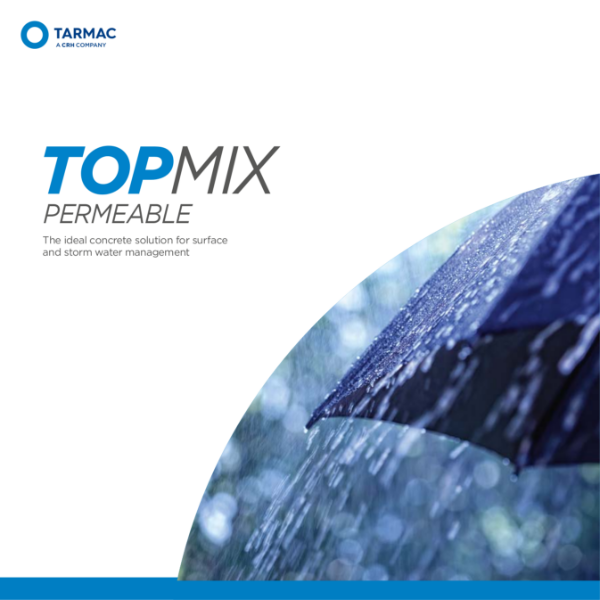 Permeable concrete for sustainable drainage (SuDS) - Topmix Permeable