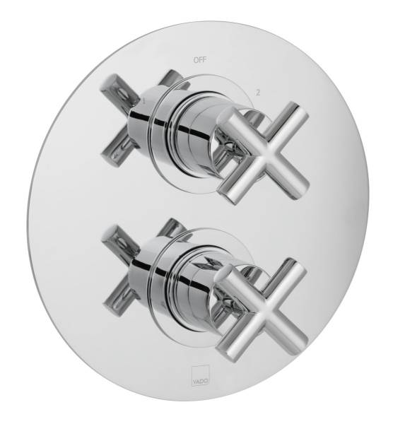 DX Elements 2 Outlet, 2 Handle Concealed Thermostatic Valve