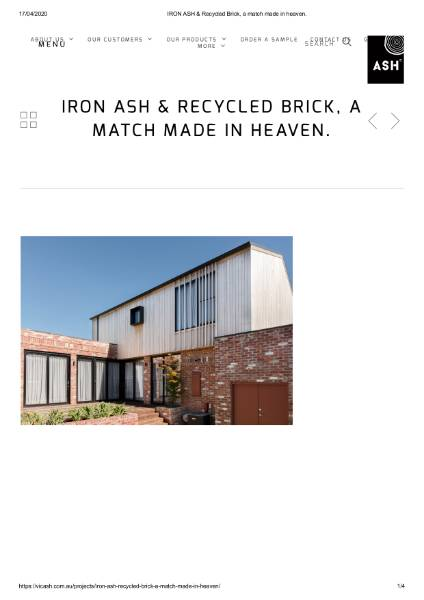 IRON ASH and Recylced Brick