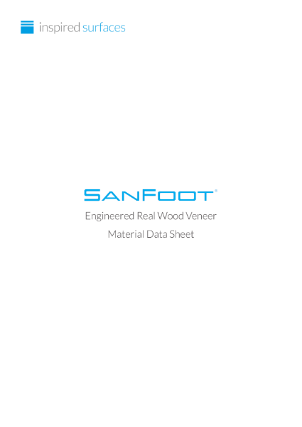SanFoot® Real Wood Veneer Material Data Sheet