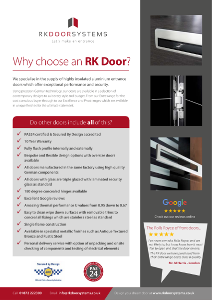 Why choose an RK Entrance Door?