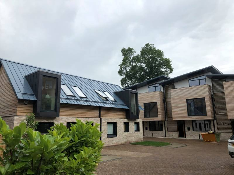 Zintek Mediterranean Blue Standing Seam – Property Development, Edinburgh