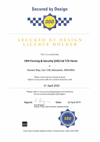 Secured by design license