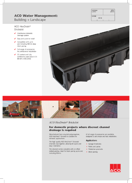 ACO HexDrain Brickslot brochure