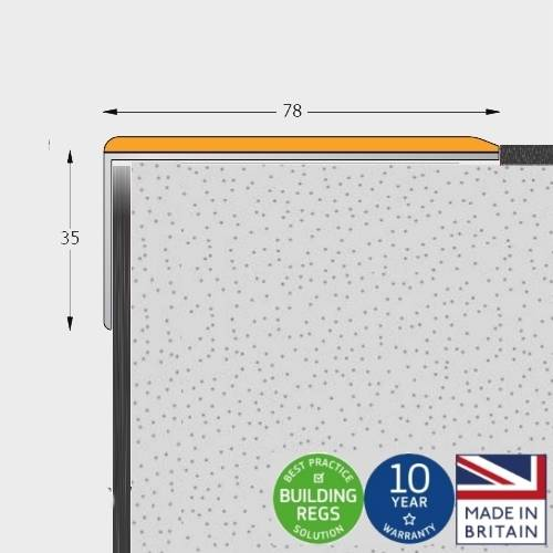 Q Range Wide - (Alternative to Double Channel) Stair Nosing / Stair Edging for 2.0 mm to 3.5 mm Floorcoverings (e.g. Vinyl)